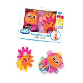 Playgro Pink Cheeky Monkey Giftset