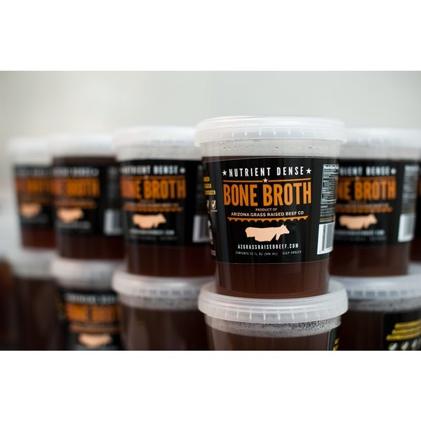 Arizona Grass Raised Beef Co. Broth and Ground Beef Combo Pack
