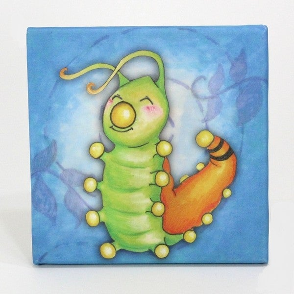 Growing Kids Caterpillar to Butterfly Series Canvas Wall Art - Caterpillar