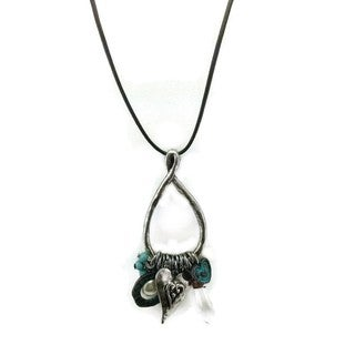 Mama Designs Handmade Turquoise Western Style Charm Necklace