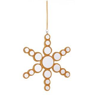Sage & Co. 6-inch Small Gold Star Mirror Disc Ornament