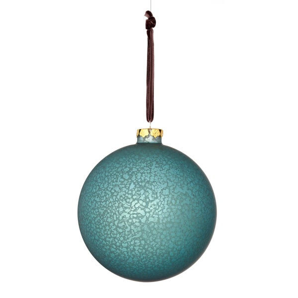 Glass Matte Finish Ball 5-inch Blue Ornament