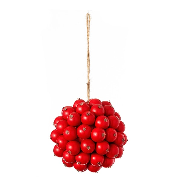 Cranberry Hanging Orb Red Ornament