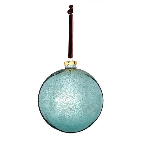Glass Mercury Finish Ball 5-inch Blue/ Black Ornament