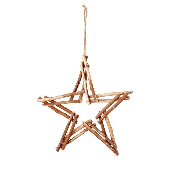 Natural Twig Star 12-inch Tan/ Brown Ornament