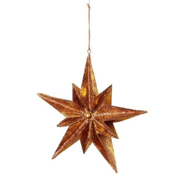 Cork Dimensional Star 10-inch Gold Ornament