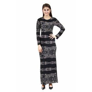 24/7 Comfort Apparel Women's Fall Paisley Printed Maxi Dress