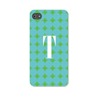 Blue Polka Dots Personalized I Phone 4 Case