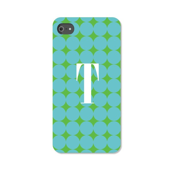 Blue Polka Dots Personalized I Phone 5 Case -  Custom Personalization Solutions, LLC, 50538