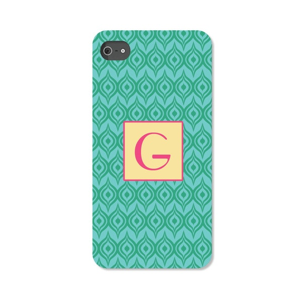 Green Ikat Personalized I Phone 5 Case -  Custom Personalization Solutions, LLC, 50541