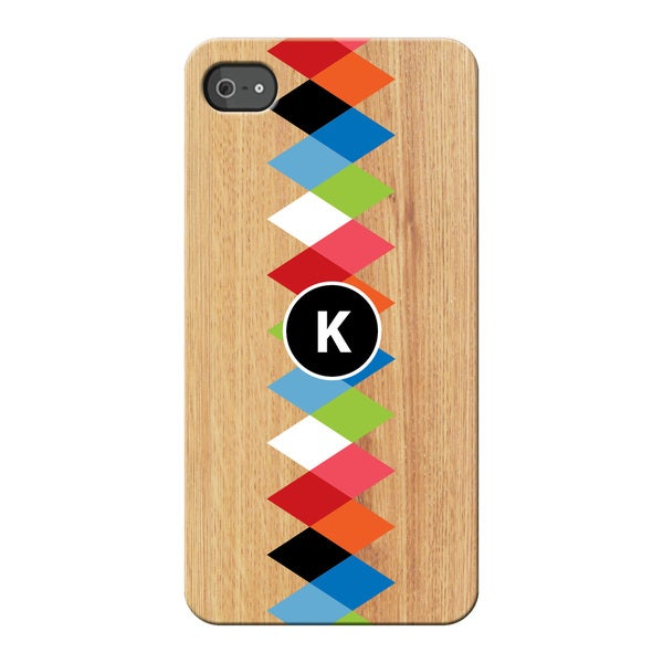 Colorful Initial Personalized I Phone 4S Case -  Custom Personalization Solutions, LLC, 56730