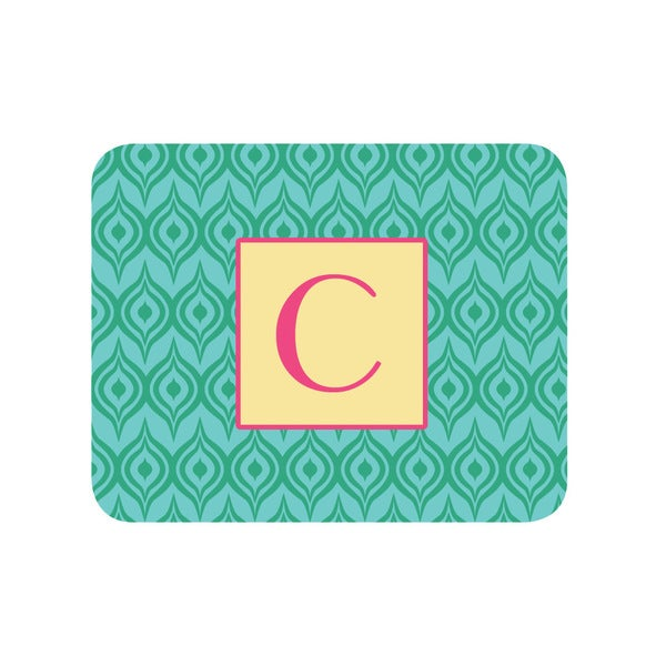 Green Ikat Personalized Mouse Pad