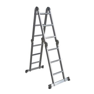 12 Ft. Heavy Duty Aluminum Multi-Purpose Scaffold Folding Ladder