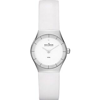 Skagen Women's White Leather Watch