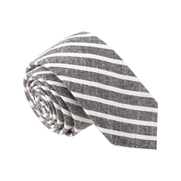"Skinny Tie Madness Men's ""The Dapper Vincent E Paul"" Grey Skinny Tie"