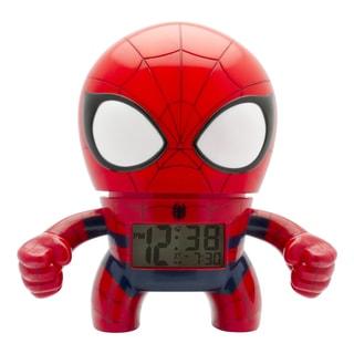 BulbBotz Marvel Kid's Light Up Spider-Man Clock