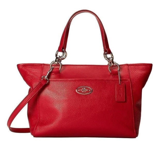 Coach Chicago Mini Ellis Tote - Light Gold/Red