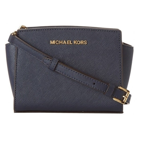 MICHAEL Michael Kors Selma Mini Messenger - Navy