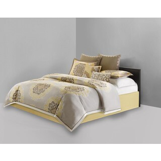 N Natori Medallion Cotton 4-piece Comforter Set