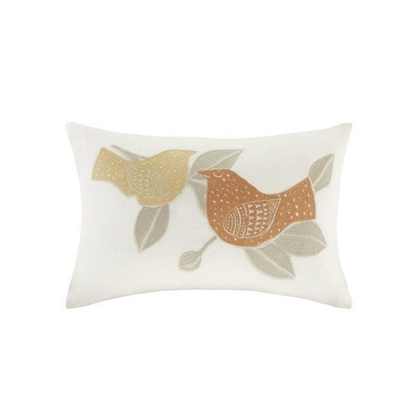 INK+IVY Palomas Embroidered Cotton Oblong Pillow