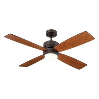 Emerson Highrise Brushed Steel Modern 50-inch Ceiling Fan with Reversible Blades