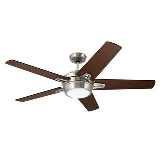 Emerson Southtowne 54-inch Brushed Steel Modern Ceiling Fan with Reversible Blades