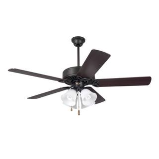 Emerson Pro Series II 50-inch Oil Rubbed Bronze Traditional Ceiling Fan with Opal Matte Glass and Reversible Blades