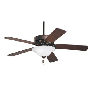 Emerson Pro Series 50-inch Oil Rubbed Bronze Traditional Ceiling Fan with Opal Matte Glass and Reversible Blades