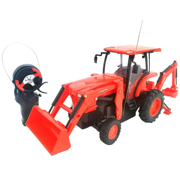 Remote Control Kubota L6060 Loader and Backhoe Tractor (As Is Item)