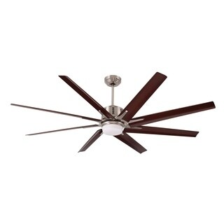 Emerson Aira Eco 72-inch Brushed Steel Modern Ceiling Fan