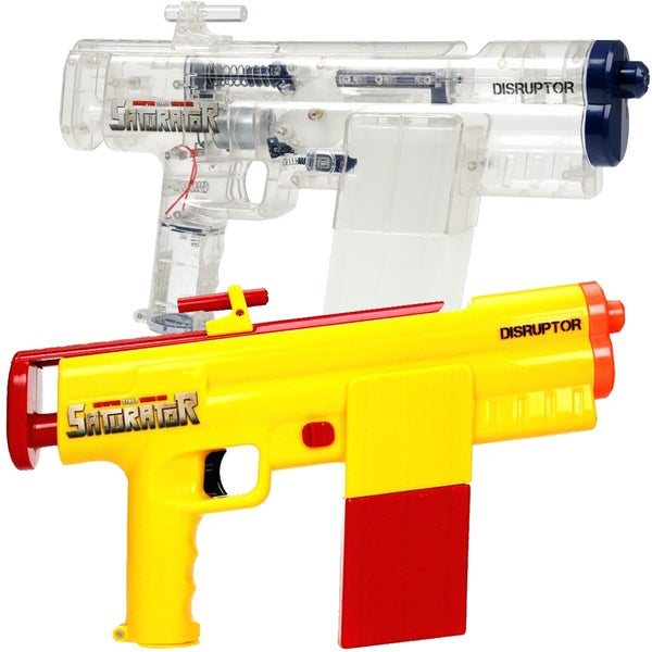 Saturator Disruptor STR60 Yellow and Clear Motorized Water Gun 2-pack with Sounds