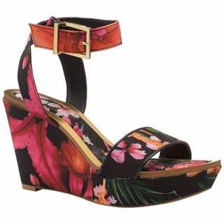 Ted Baker Cristat Floral WEdge Sandal Shoes
