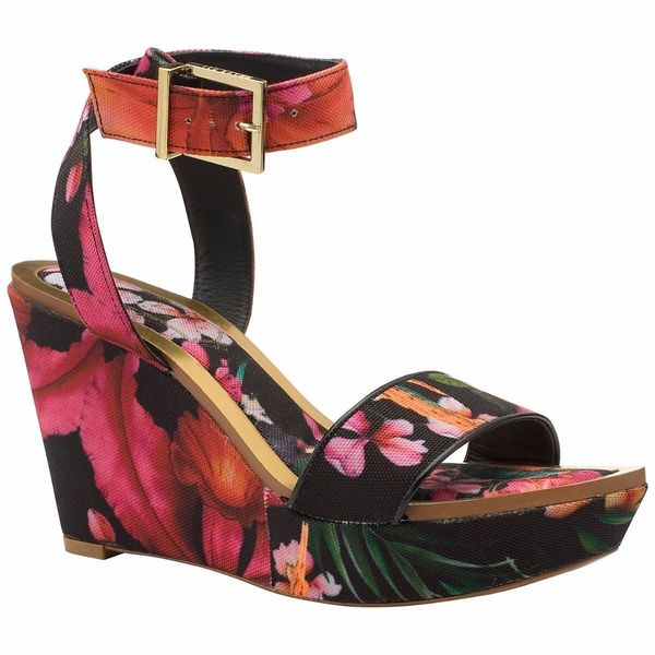 Ted Baker Cristat Floral WEdge Sandal Shoes