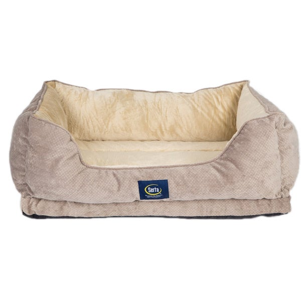 Serta Plush Orthopedic Dog Bed With Bolster