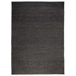 Kosas Home Tessa Soumak Natural Fiber Jute Charcoal Rug (2' x 3')
