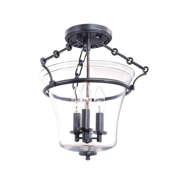 Hudson Valley Eaton 3-light Semi Flush