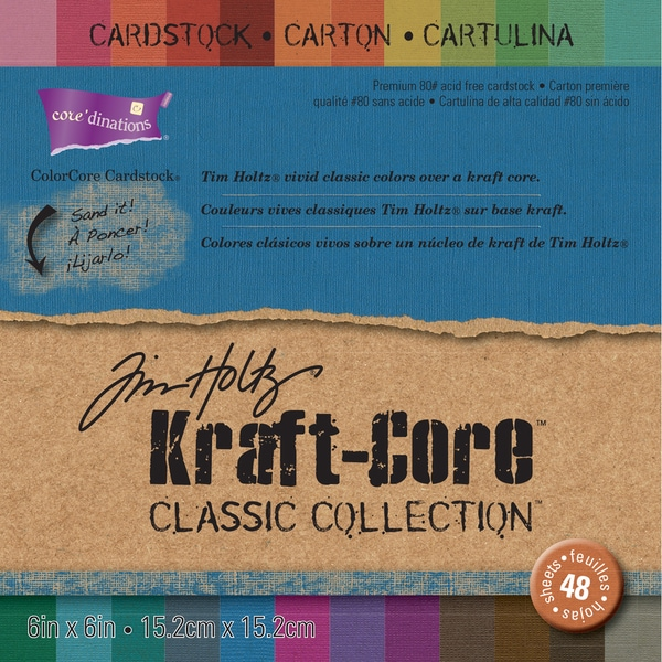 Core'dinations Kraft Core Classic Cardstock 6inX6in 48/PkgAssorted Colors