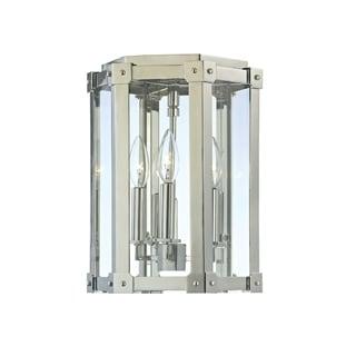 Hudson Valley Roxbury 3-light Nickel Semi Flush
