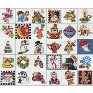 Mary Engelbreit Ornaments Counted Cross Stitch Kit2inX2in 14 Count Set Of 30