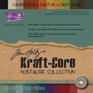 Core'dinations Kraft Core By Tim Holtz 6inX6in 48/PkgNostalgic