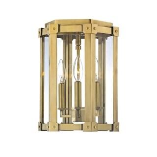 Hudson Valley Roxbury 3-light Brass Semi Flush