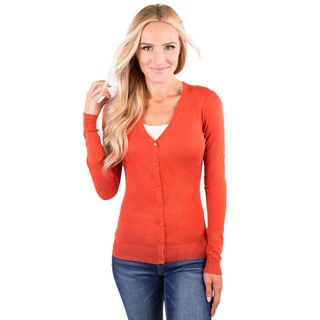 DownEast Basics Women's Essential V-Neck Cardigan