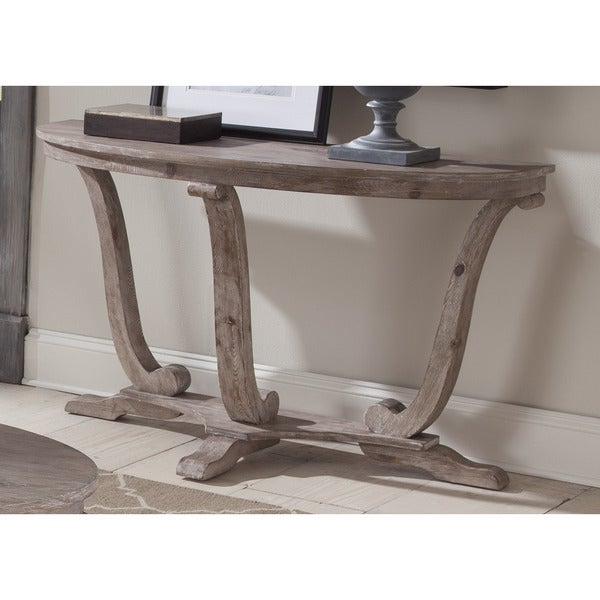Greystone Mill Stone Washed Half Moon Sofa Table
