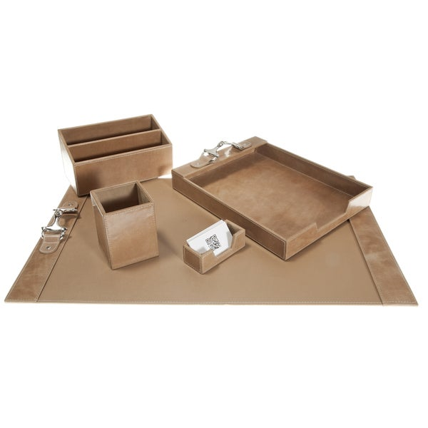 Wellington Leather Desk Set- Tan