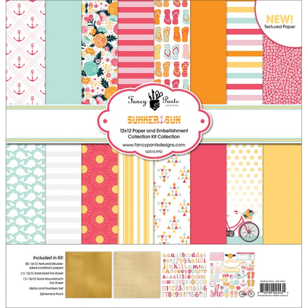 Fancy Pants Designs Collection Kit 12inX12inSummer Sun