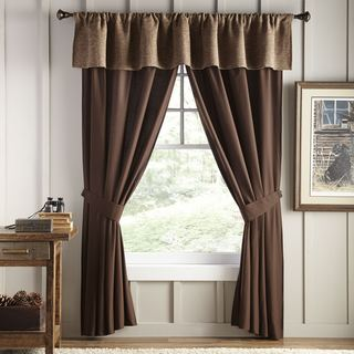 Stowe Creek Brown Valance
