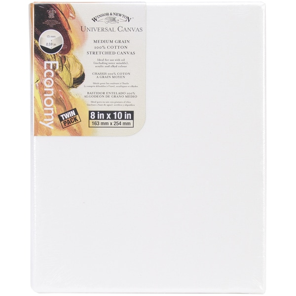Universal Stretched Canvas Twin Pack 2/Pkg8inX10in