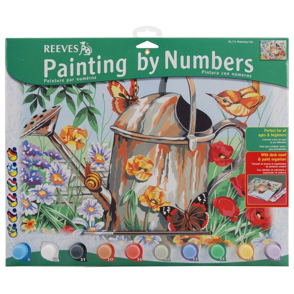 Paint By Number Kit 12inX16inWatering Can 16226687