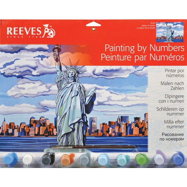 Paint By Number Kit 12inX16inStatue Of Liberty