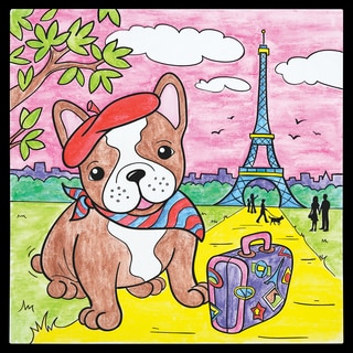 Paint By Number Parisian Pooch Kit